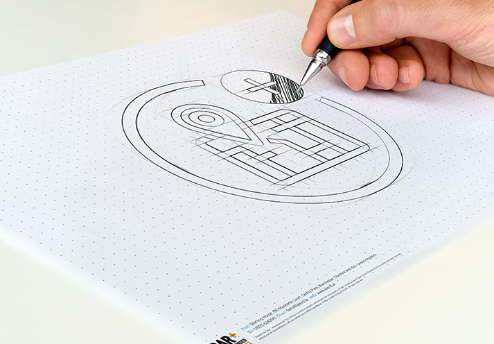 Icon design draft sketch for UK Power Network