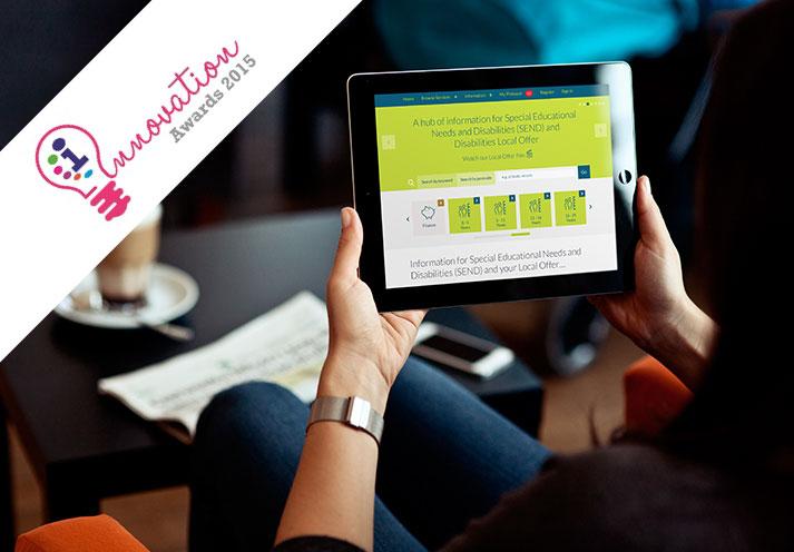 Warrington Borough Council 'Ask Ollie' semantic website iPad mockup